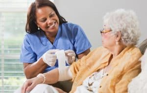 Care and dressing of wounds at home